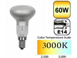 10x żarówka reflektorowa r50 lustrzna e14 60w 230v