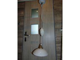 Przedwojenna lampa z przeciwwaga porcelanową