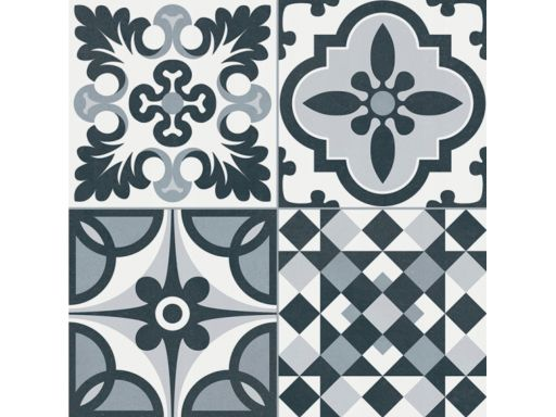 Patchwork heritage black 33,15x33,15 gayafores