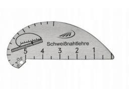 Szablon do pomiaru spawów 1-5 spoinomierz