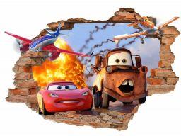 Naklejki na ścianę dla dzieci auta 3d cars 160x110