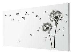 Naklejki na ścianę dmuchawce 260x160cm motyle