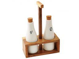 Zestaw pojemników buteleczki na oliwę ocet kassel