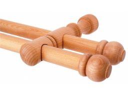Solidny karnisz drewniany podwójny karnisze tanie