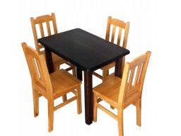 Solidne drewniane krzesła sosnowe stołki kolory