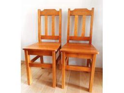 Solidne drewniane krzesło sosnowe stołek