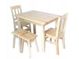 Solidne drewniane krzesła sosnowe stołki kuchnia