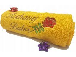 Ręcznik 70x140 z własnym imieniem haftem logo haft