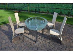 Niemiecki szklany stół +4 krzeseła