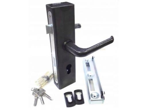 Kaseta z zamkiem 60x40 wkładka klamka zaczep opór