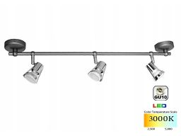 Lampa sufitowa tk 103 gu10 srebrna 35w