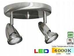Lampa sufitowa ck 602 2x gu10 12w 4000k 900lm sat