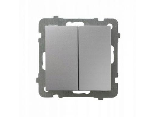 Ospel as łącznik podwójny srebro łp-2g/m/18