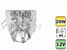Oprawa szklana wpust l11b kryształ sześcio g4 12v