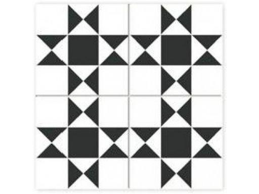Płytki patchwork cardiff white 45x45 dualgres gat